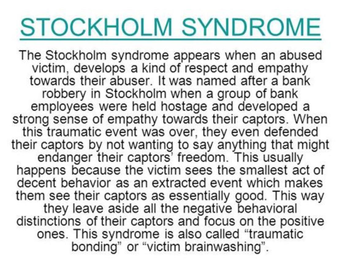Stockholm syndrome statistics